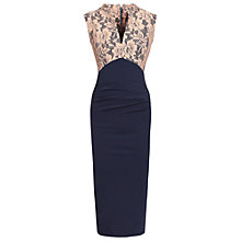 Buy Jolie Moi Contrast V-Neck Dress Online at johnlewis.com