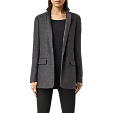 Buy AllSaints Aito Blazer, Charcoal Grey Online at johnlewis.com