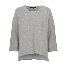 Buy French Connection Frosted Sequin Jumper, Light Grey Mel/Silver Online at johnlewis.com
