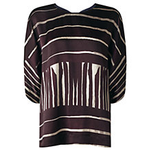 Buy Jigsaw Striped Kimono Top, Dark Purple Online at johnlewis.com