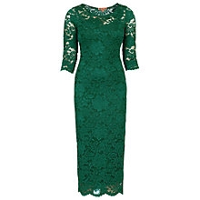 Buy Jolie Moi Scalloped Lace Dress, Dark Green Online at johnlewis.com
