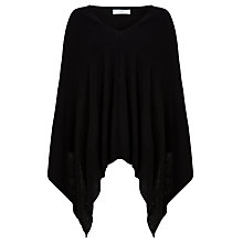 Buy John Lewis Cashmere-Blend Poncho, Black Online at johnlewis.com