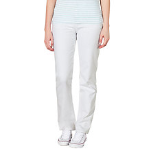 Buy John Lewis Straight Leg Jeans, White Online at johnlewis.com