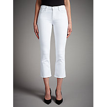 Buy J Brand Selena Mid Rise Cropped Bootcut Jeans, Blanc Online at johnlewis.com
