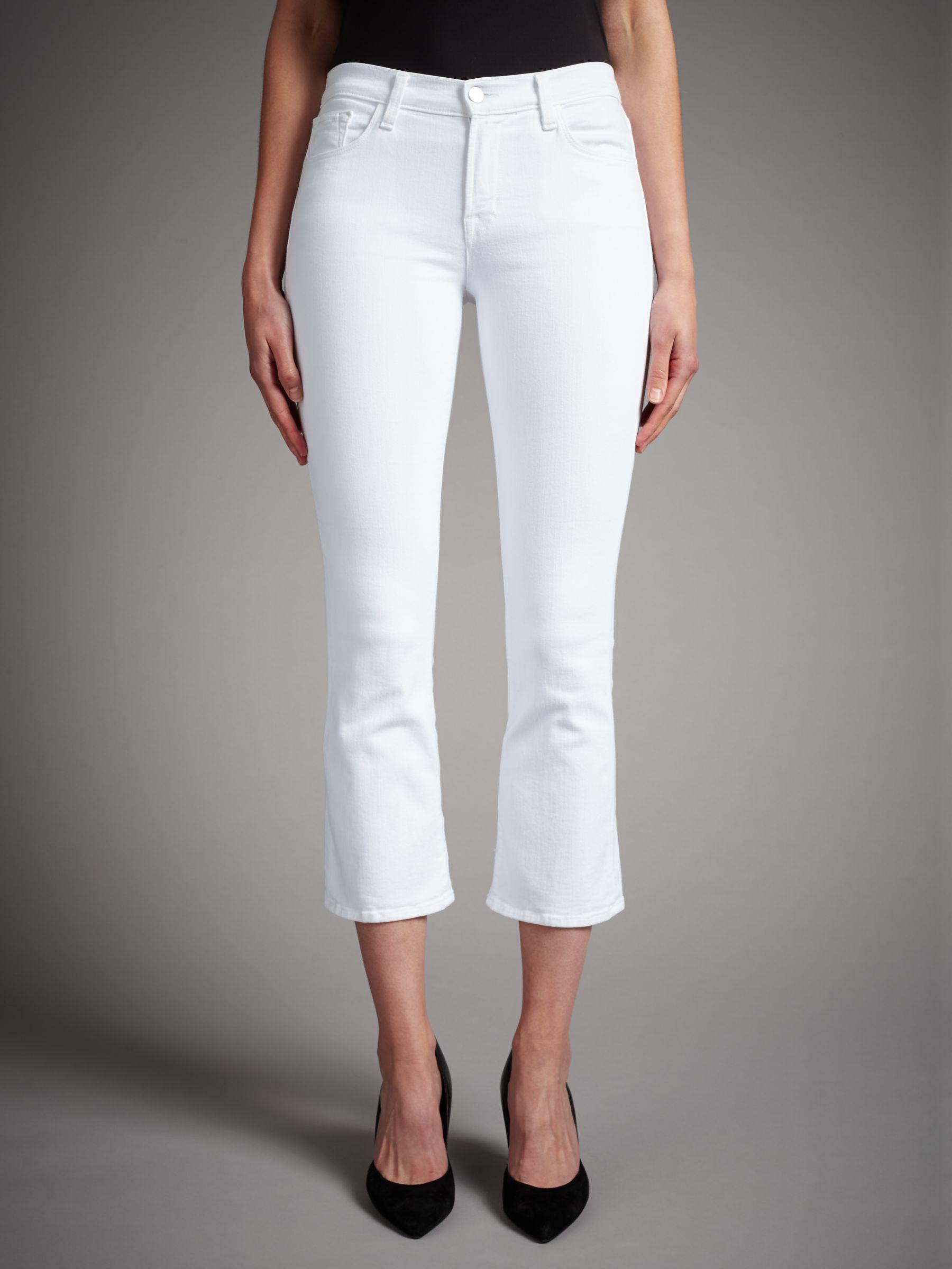 J Brand J Brand Selena Mid Rise Cropped Bootcut Jeans, Blanc