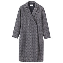 Buy Toast Wool/Linen Jacquard Coat, Ivory/Indigo Online at johnlewis.com