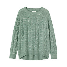Buy Toast Cable Knit Wool-Blend Jumper Online at johnlewis.com