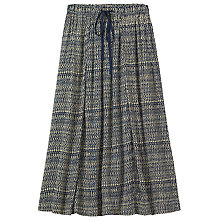 Buy Toast Geo Print Drawstring Skirt, Off White/Indigo Online at johnlewis.com