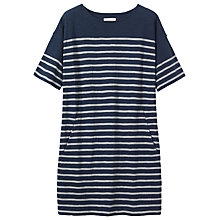 Buy Toast Breton Stripe Jersey Tunic, Indigo/Celadon Online at johnlewis.com
