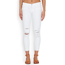 Buy J Brand 9326 Cropped Skinny Jeans, Demented White Online at johnlewis.com