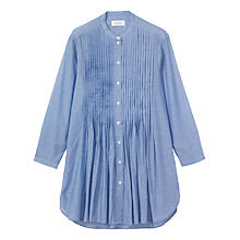 Buy Toast Long Sleeve Pleated Shirt, Chambray Blue Online at johnlewis.com