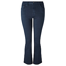 Buy J Brand Selena Mid Rise Cropped Bootcut Jeans, Blue Black Online at johnlewis.com