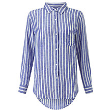 Buy Rails Charli Linen Shirt, Bluebell White Stripe Online at johnlewis.com