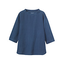 Buy Toast Linen/Cotton Tunic Top, Indigo Online at johnlewis.com
