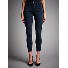 Buy J Brand Maria High Rise Ankle Crop Skinny Jeans, Direct Blue Black Online at johnlewis.com