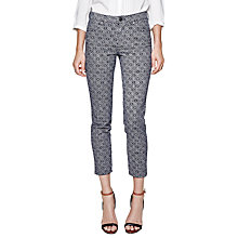 Buy French Connection Medina Denim Slim Crop Jeans, Nocturnal/Multi Online at johnlewis.com