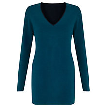 Buy Jigsaw Double Faced Jumper, Slate Blue Online at johnlewis.com