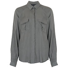 Buy French Connection Spring Long Sleeve Shirt, Tribal Green Online at johnlewis.com
