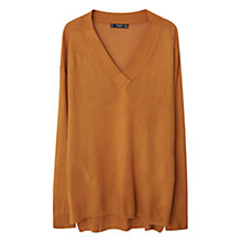 Buy Mango V Neck Jumper, Medium Yellow Online at johnlewis.com