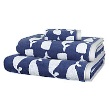 Buy John Lewis Whales Towels, Blue / White Online at johnlewis.com
