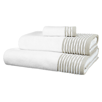John Lewis Croft Collection Broken Stripe Towels