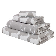 Buy Anorak Kissing Stags Towels, Silver Online at johnlewis.com