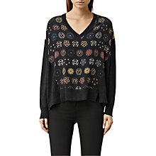 Buy AllSaints Aries Knit Jumper, Cinder Marl Online at johnlewis.com