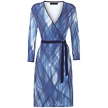 Buy Jaeger Scratch Print Wrap Dress, Blue/Multi Online at johnlewis.com