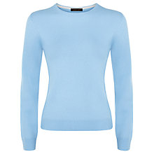 Buy Jaeger Cashmere Crew Neck Jumper,  Pale Blue Online at johnlewis.com