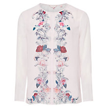 Buy Ted Baker Pallie Acanthus Scroll Top, Light Pink Online at johnlewis.com
