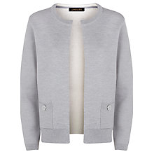 Buy Jaeger Button Detail Cardigan, Light Grey Melange Online at johnlewis.com