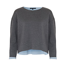 Buy French Connection Zanzi Scuba Sweatshirt, Grey Mel Online at johnlewis.com