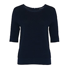 Buy French Connection Noli Stitch Knitted Jumper, Nocturnal/Black Online at johnlewis.com