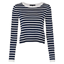 Buy French Connection Cass Striped Jumper, Summer White/Nocturnal Online at johnlewis.com