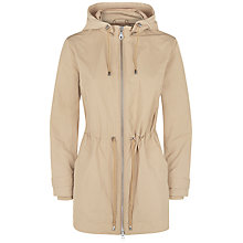 Buy Jaeger Curved Hem Hooded Parka, Incense Online at johnlewis.com