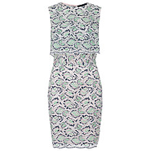 Buy French Connection Boccara Lace Sleeveless Dress, Mineral Green/Multi Online at johnlewis.com