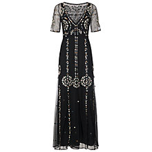 Buy French Connection Evie Sparkle Maxi Dress, Black/Multi Online at johnlewis.com