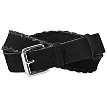 Buy AllSaints Leather Dala Jeans Belt Online at johnlewis.com