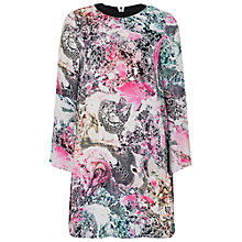 Buy French Connection Mineral Pool Printed Swing Dress, Summer White/Multi Online at johnlewis.com