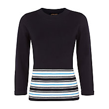 Buy Jaeger Wool Stripe Sweater, Blue/Multi Online at johnlewis.com