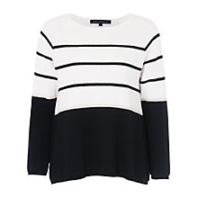 Buy French Connection Matilda Textured Nautical Jumper, Summer White Online at johnlewis.com