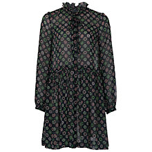 Buy French Connection Medina Tile Print Dress, Black/Multi Online at johnlewis.com