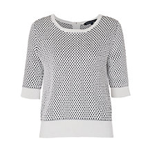Buy French Connection Noli Stitch Knitted Jumper, White/Black Online at johnlewis.com