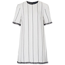 Buy French Connection Riviera Tweed Tunic Dress, White/Black Online at johnlewis.com