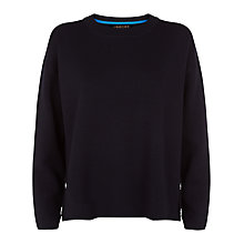 Buy Jaeger Button Detail Sweater, Midnight Online at johnlewis.com