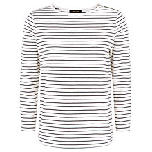 Buy Jaeger Fine Stripe Zip Detail Top Online at johnlewis.com
