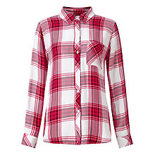 Buy Rails Hunter Plaid Shirt, Raspberry/White Online at johnlewis.com