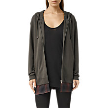 Buy AllSaints Halo Hoodie, Washed Black Online at johnlewis.com