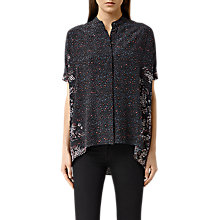 Buy AllSaints Fleet Virgo Shirt, Ink Blue Online at johnlewis.com