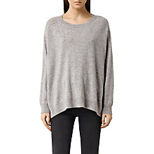 Buy AlLSaints Emmy Jumper, Light Grey Marl Online at johnlewis.com